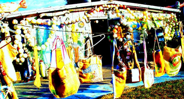 HIPPIE BAGS MADE IN TAMPA. HONG KONG WILLIE GREEN ART