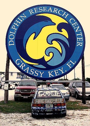 Hong Kong Willie Google Car at  Dolphin Research Center, at GRASSY KEY Florida