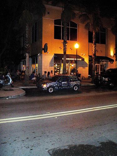 Hong Kong Willie Google Car at Starbucks On Howard ave Tampa
