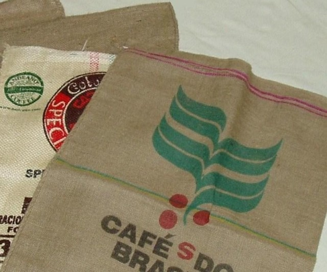 Used Coffee Burlap Bags